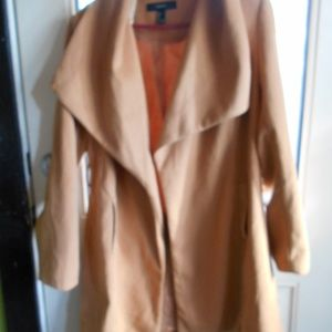 Camel colored new jacket size l needs a belt